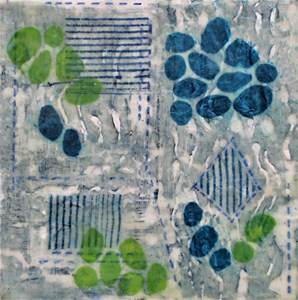 12 x 12 collagraph on wood panel 3
